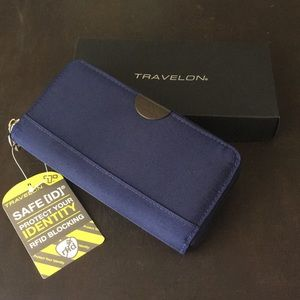 Travelon Blue Safe ID wallet